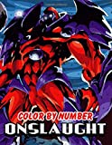 Onslaught Color By Number: Supervillain Marvel Cinematic Universe Comic Illustration Color Number Book For Fans Adults Creativity Gift.