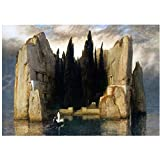 UNFIX Arnold Bocklin -Island of The Dead Poster and Prints Wall Art Prints On The Wall Wall Decorations Poster Home Decor -20x28 Inch No Frame 1 PCS