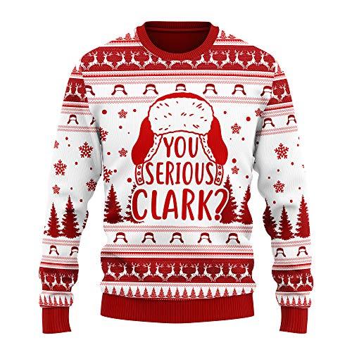 You Serious Clark Christmas Vacation Woolen Sweatshirt Ugly Sweater Women Men