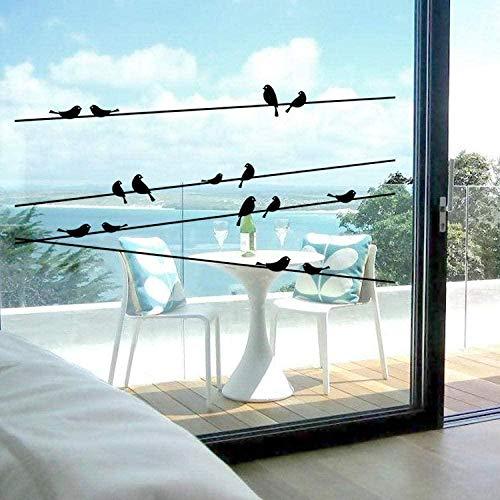 Muursticker,Muurschilderingen elektrische paal vogel glas verwijderbare diy raamstickers landschapsarchitectuur decoratieve mode maat 57 * 11cm