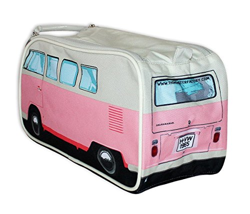 『Genuine Volkswagen Split Windscreen VW Campervan Camper Van Washbag Wash Bag Travel Bag - Pink』の1枚目の画像
