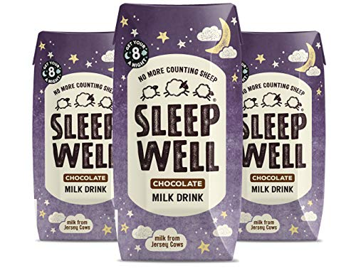 Sleep Well Natural Jersey Milk Drink with Valerian - No More Counting Sheep (3 x 200ml cartons) (Chocolate, 3x200ml)