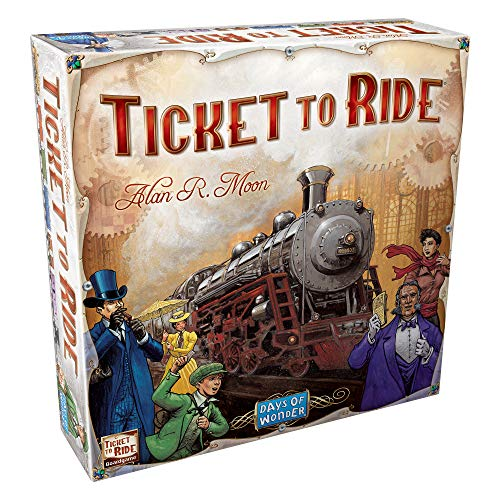 Ticket to Ride Board Game | Family Board Game | Board Game for Adults and Family | Train Game | Ages 8+ | For 2 to 5 players | Average Playtime 30-60 minutes | Made by Days of Wonder