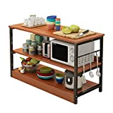 Almacenamiento de Cocina Rack Kitchen Baker's Rack Utility Storage Shelf Microwave Stand 3-Neer For Spice Rack Organizer Workstation Shelf Utensilios de Utensilios OJPOGHUv