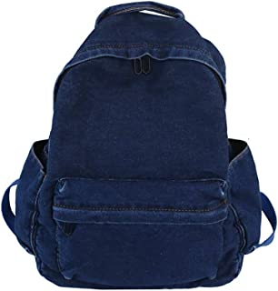 Casual Wild Denim Schoolbag, Large Capacity Light Breathable Reduce Burden Schoolbags, Teens Boy and Girl Washable Student Backpack,Darkblue