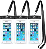 (3-Pack) AiRunTech Waterproof Case, Waterproof Cell Phone Dry Bag for iPhone Xs/XS Max/XR/X
