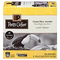 Peet's Coffee Costa Rica Aurora ピートコーヒーコスタリカオーロラライトローストコーヒーKカップポッド 16杯分 [並行輸入品]