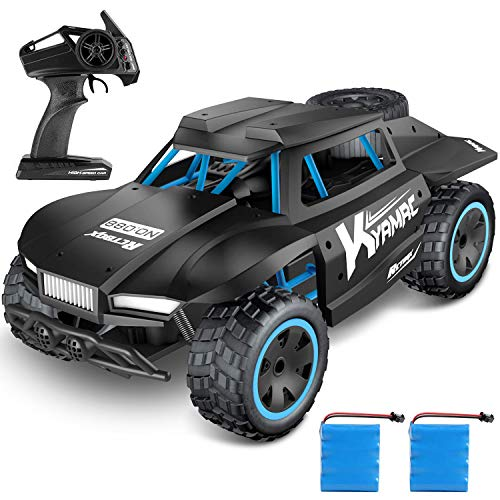Kuorle Remote Control Car,2.4Ghz Remote Control Truck 1:18 Scale High Speed Racing Cars 2WD Off-Road RTR Electric Rock Climber Fast Race Buggy Hobby Car Toy for Kids Gift