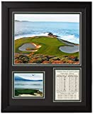 Legends Never Die Pebble Beach Hole #7- The U.S. Open Collectible | Framed Photo Collage Wall Art Decor - 12'x15'