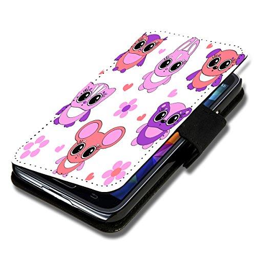 wicostar Book Style Flip Handy Tasche Hülle Schutz Hülle Schale Motiv Etui für LG L Fino - Flip 1X16 Design4