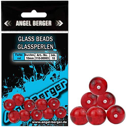 Angel-Berger Glass Beads Glasperlen Perlen Texas Carolina Rig (6mm Rot)