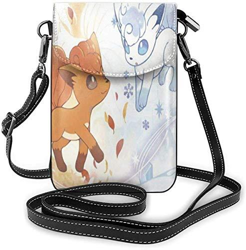 Vulpix EIS und Tanne Leichte kleine Umhängetaschen Leder Handy Geldbörsen Reisetasche Umhängetasche Brieftasche für Frauen