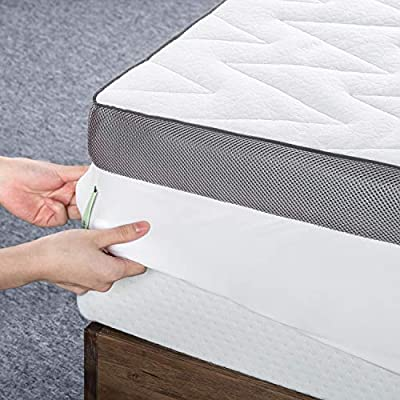 ZINUS 3 Inch Luxury TorsoTec Memory Foam Mattress Topper with Removable Cover/Pressure-Relieving Design, King