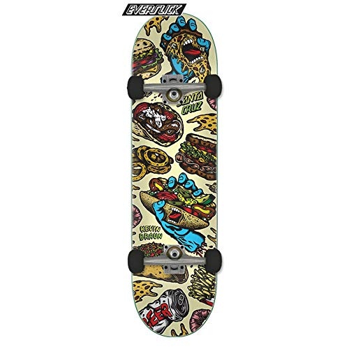 SANTA CRUZ Everslick Brown Snacks Skateboard Complet 8,25 inch