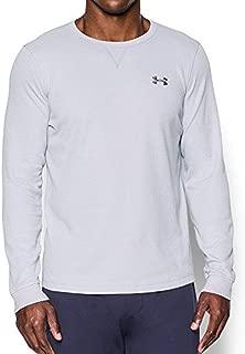 Men's UA Waffle Crew Long Sleeve Shirt White SZ Small