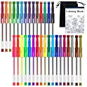 32-Count Shuttle Art Gel Pen Set with Coloring Book