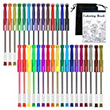 Gel Pens, Shuttle Art 32 Colors Gel Pen Set with Coloring Book for Adults Coloring Books Drawing Doodling Crafts Scrapbooking Journaling
