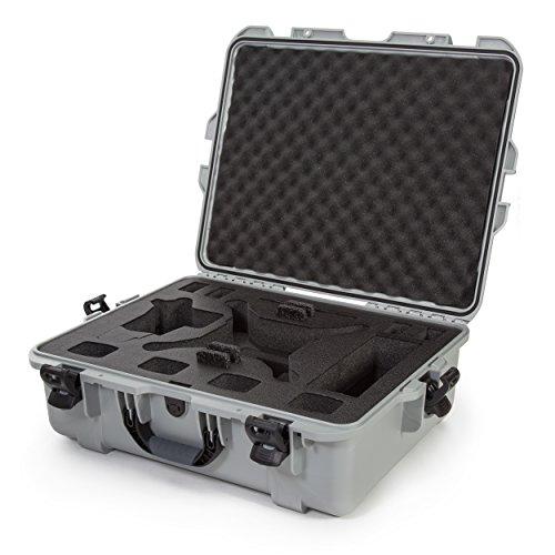 Nanuk DJI Drone Waterproof Hard Case with Custom Foam Insert for DJI Phantom 4/ Phantom 4 Pro (Pro+) / Advanced (Advanced+) & Phantom 3 - Silver