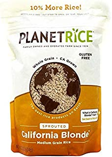 Sponsored Ad - Planet Rice Sprouted Blonde Gaba Rice for Meal Prep and Bulk Cooking - Gluten-Free, Vegan, Paleo, Non-Aller...