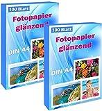 200 hojas de papel fotográfico A4 impresora de inyección de tinta brillante 240g / m² papel fotográfico tarjetas fotográficas secas impermeables hojas de fotos blancas brillantes