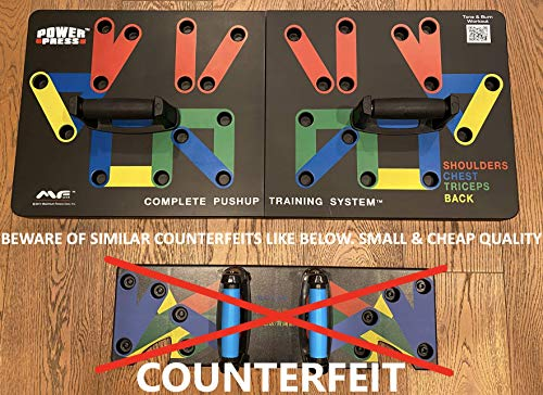 Power Press Push Up ~ Color-Coded Push Up Board System Original US-Based