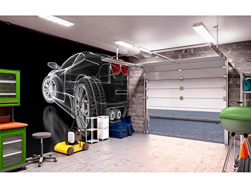 Fotomural Vinilo para Pared Coche Deportivo 3D | Fotomural para Paredes | Mural | Vinilo Decorativo | Varias Medidas 200 x 150 cm | Decoración comedores, Salones, Habitaciones.