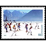 Wee Blue Coo Postage Stamp Germany 55 Fifty Five Cents Ski