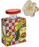 Maroc & Roll - Sicily Bottiglia Grande DIFFUSORE Profumo Ambiente in Porcellana con Fiore di Corteccia di GELSO 375ml - SBTMAXI.B&R01