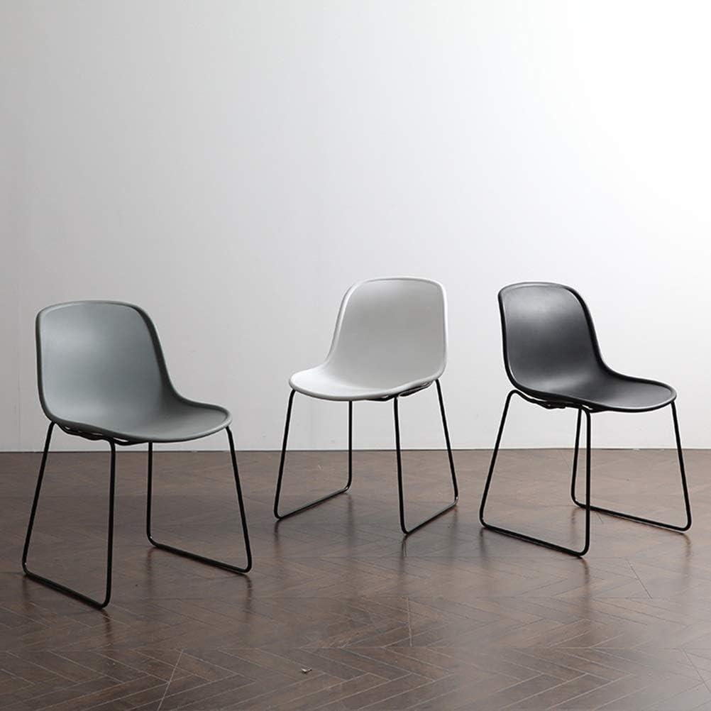 Chaises de réception en plastique de chaises de bureau d'affaires, chaises de conception contemporaines avec les jambes en métal (Color : Color G) Color B