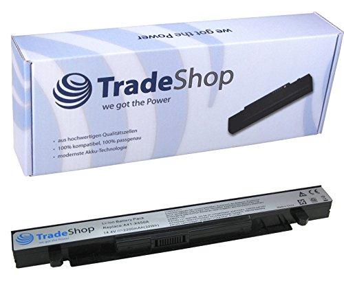 Trade-Shop Premium Li-Ion Akku, 14,4V/14,8V 2200mAh für Asus R510LB R510LC R510V R510VB R510VC R512C R512CA R513C R513CL R510EA R412VP R510L R412EP