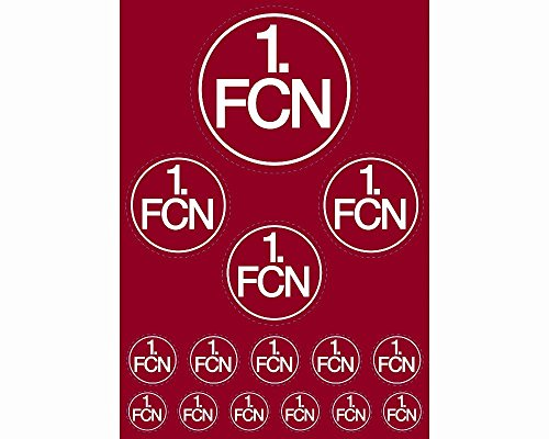 "AUFKLEBERKARTE STICKER AUFKLEBER ""Logo"" 1. FC NÜRNBERG 1. FCN NEU"