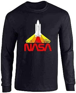 NASA Approved Blast Off Retro Worm Logo Full Long Sleeve Tee T-Shirt
