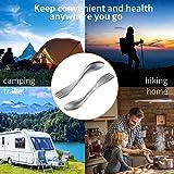 OUTXE Titan Ultraleichtes Campinggerät, umweltfreundliches Spork für Rucksacktouren, Wandern, im Freien, 2er-Pack (Titan 2 in 1 Löffel und Gabel, Titan) - 7