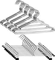 Artifi ハンガー ズボンハンガー クリップ ジャケットハンガー スカートハンガー 滑らない 頑丈 錆びにくい 曲がらない hanger スリムタイプ 省スペース 収納便利 乾湿両用 かさばらない (ハンガー40本組+ズボンハンガー10本組)