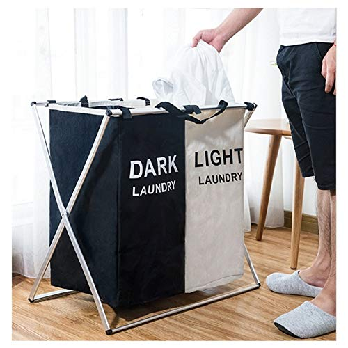 Laundry Baskets Laundry Basket Organizer Foldable Dirty Hamper Sorter Clothes Toys Collapsible Folding Large Laundry Basket Two Or Three Grids (Color : 2 Grid B)
