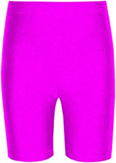 Janisramone Girls Boys New Nylon Lycra Stretchy Kids Dance Sports Cycling Shorts Game PE School Short Pants