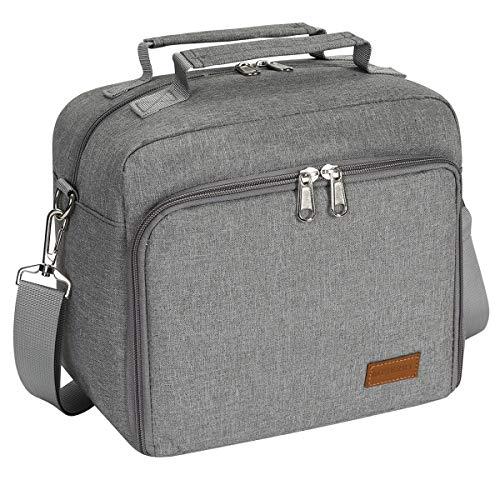 MBJERRY Insulated Cooler Bottle Bag - Leakproof Breastmilk Storage Bag Reusable Bottle Bag for Daycare with Adjustable Shoulder Strap for Nursing Women(Grey)