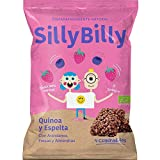 Snack Cuadraditos horneados ECO Fresa y Arándanos SillyBilly Bolsita 24 gramos