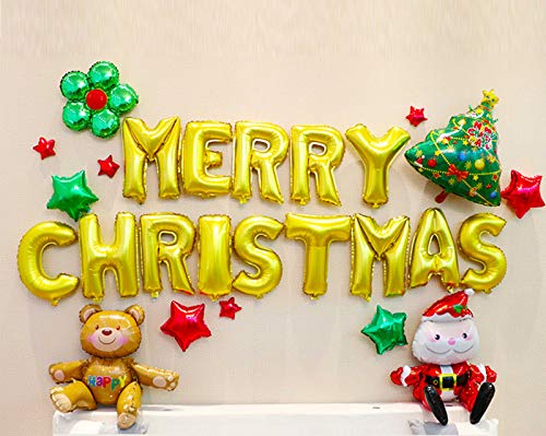TUWUNA Christmas Balloons,Christmas Party Decorations Supplies,Kids Xmas Party Favor Decorations Perfect for Your Theme Party