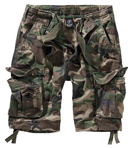 Brandit, Pure Vintage Shorts, pantaloncini vintage, in diversi colori, taglie dalla S alla 7XL woodland XXXXL