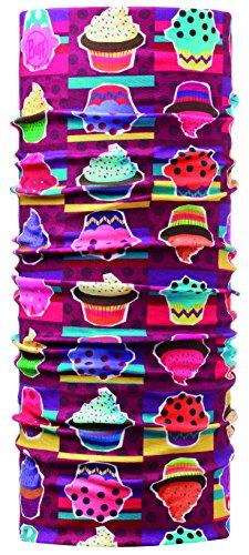 Buff Multi Functional - Braga de Cabeza para niño, Color diseño de Cupcake