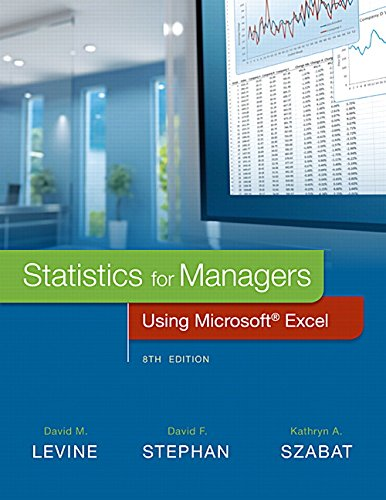 Statistics for Managers Using Microsoft Excel, 8th Edition Front Cover