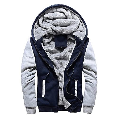 Mens Mens M-5XL Hoodie Winter Warm Fleece Zipper Jacket Outwear Coat Hoodies for Men Fashion Hoodies