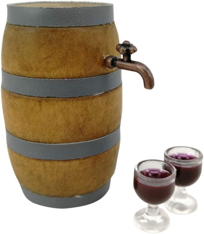 Vosarea 1 Set Max 47% OFF Mini Barrel Wood Under blast sales Door Exquisite Attractive Min