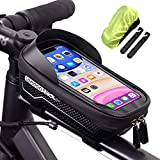 <span class='highlight'><span class='highlight'>LEMEGO</span></span> Bike Frame Bag Waterproof Bike Phone Bag Large Capacity Eva Handlebar Bag Bike Accessories with TPU Touch Screen with Sun Visor and Rain Cover for iPhone and Samsung Smartphones Under 6.5