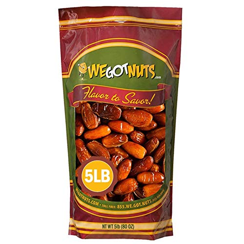 5 Pounds Of Dates Pitted (80oz) No Added Sugar, Non GMO, Kosher Certified,Healthy Snack for Kids & Adults