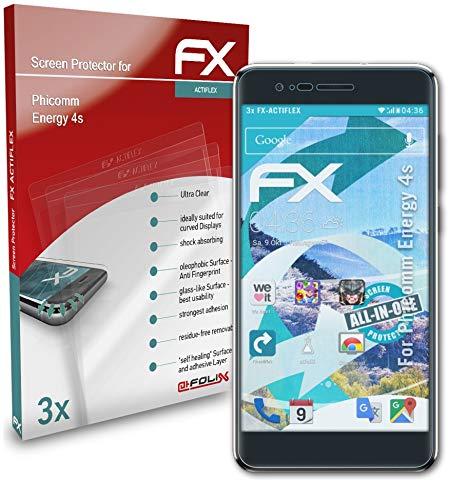 atFolix Schutzfolie kompatibel mit Phicomm Energy 4s Folie, ultraklare & Flexible FX Bildschirmschutzfolie (3X)