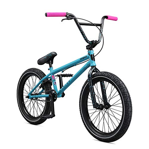 Mongoose Legion L60 Freestyle BMX Bike Line for Beginner-Level to Advanced Riders, Steel Frame, 20-Inch Wheels, Blue