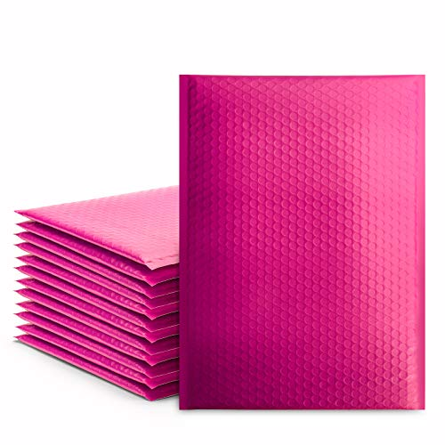 Pink Bubble Mailers 10.5x16 Inch Poly Bubble Mailer, Self-Seal Padded Envelopes, Shipping Envelopes, Bubble Envelopes, Package Bags, Padded Mailers, Shipping Bags for Small Business, 25 Pack