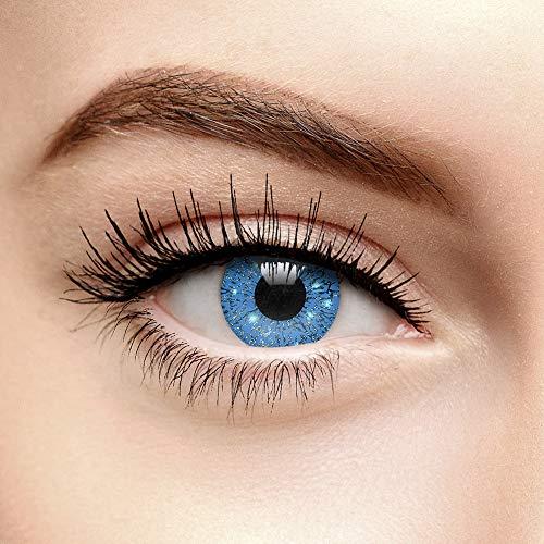Blaue Glimmer Farbige Kontaktlinsen ohne Stärke (90 Tage)